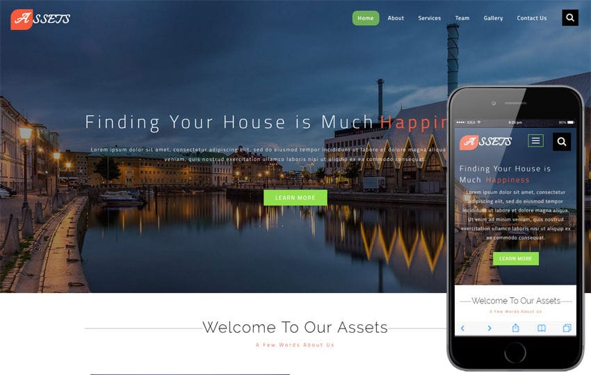 Assets a Real Estate Category Bootstrap Responsive Web Template Mobile website template Free