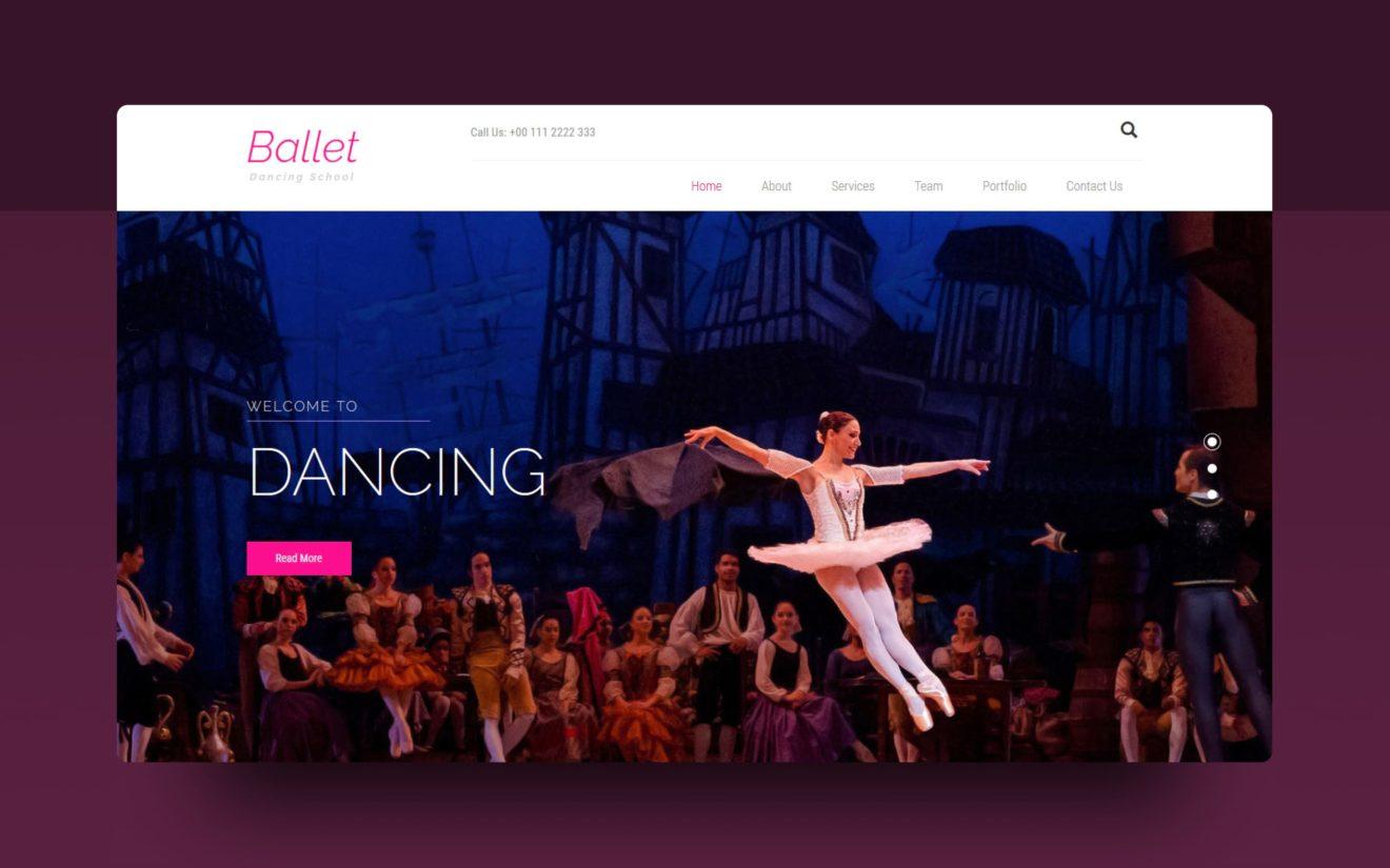 ballet website template