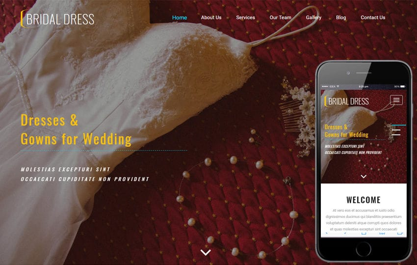 Bridal Dress a Fashion Category Bootstrap Responsive Web Template