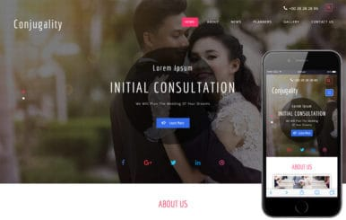 Conjugality a Wedding Category Bootstrap Responsive Web Template