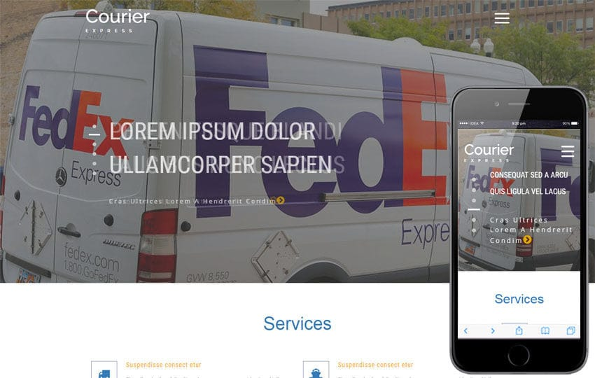 Courier Express Website Template | Autos & Transportation