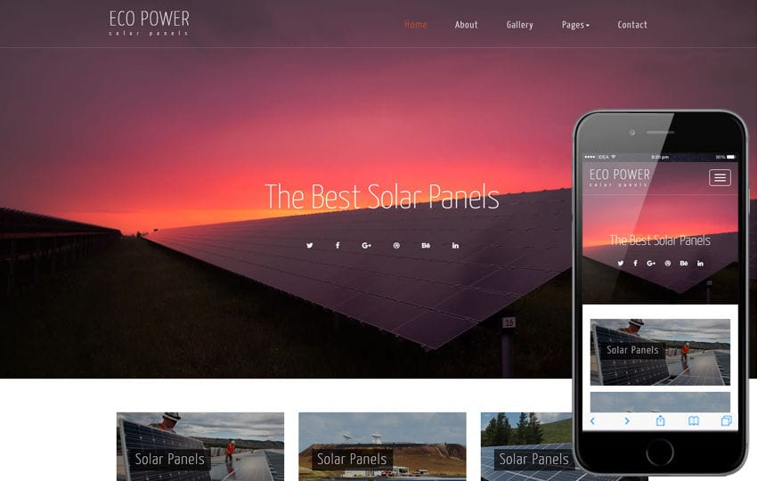 Eco Power an Industrial Category Bootstrap Responsive Web Template