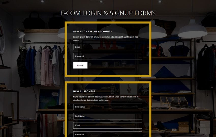 E-com Login and Signup Forms Flat Responsive Widget Template