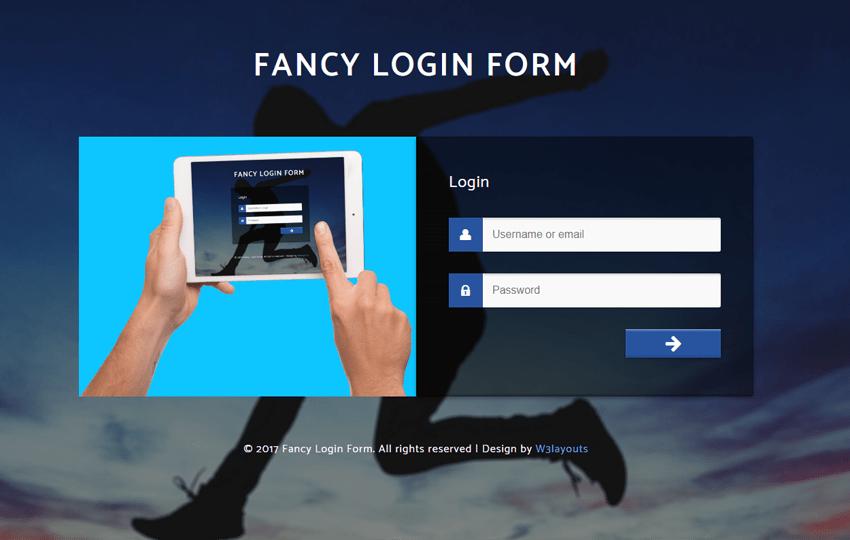 Fancy Login Form a Flat Responsive Widget Template