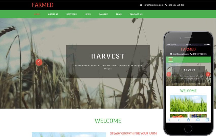 Farmed an Agriculture Category Flat Bootstrap Responsive Web Template