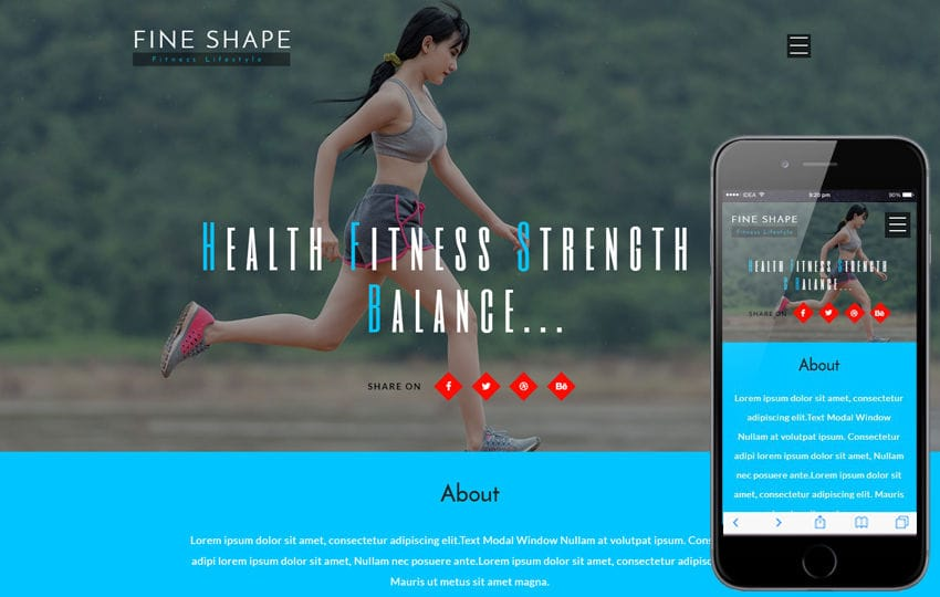 Fine Shape a Sports Category Flat Bootstrap Responsive Web Template Mobile website template Free