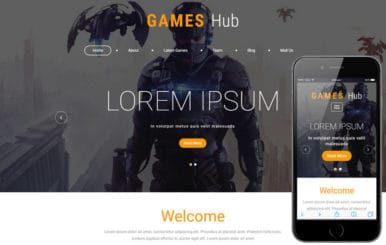 Games Hub a Games Category Bootstrap Responsive Web Template