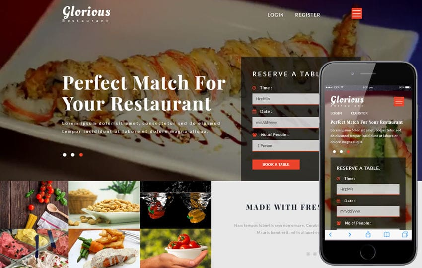 Glorious a Restaurants Category Bootstrap Responsive Web Template