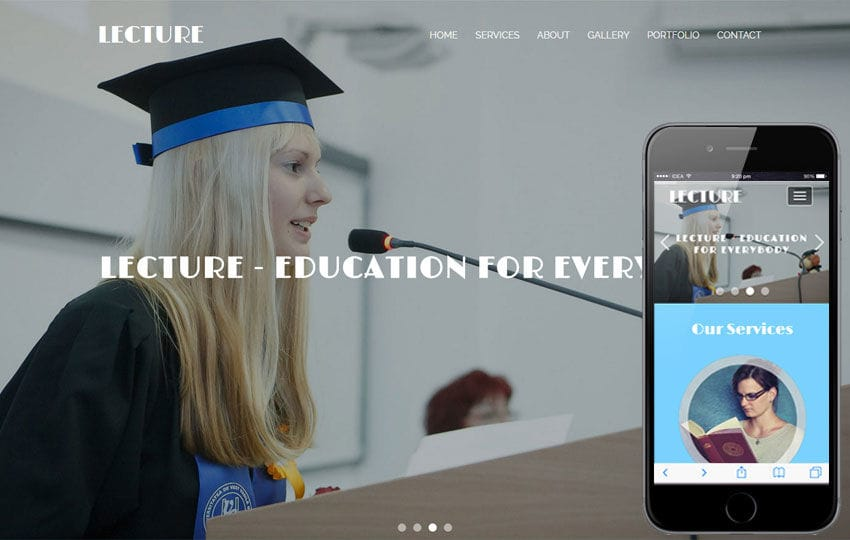 Lecture an Education Category Flat Bootstrap Responsive Web Template Mobile website template Free