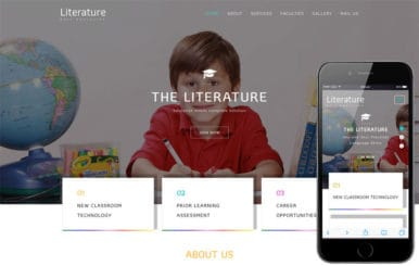 Literature an Education Category Bootstrap Responsive Web Template