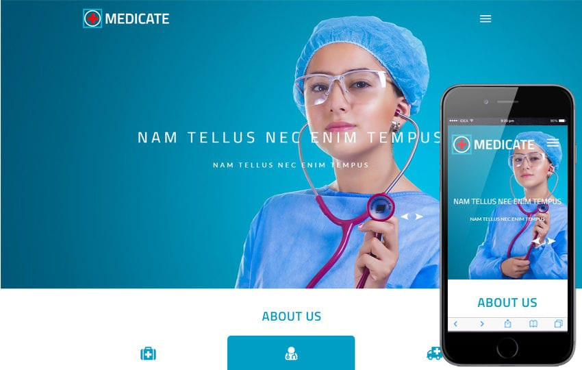 Medicate a Medical Category Bootstrap Responsive Web Template Mobile website template Free