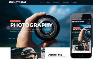 Photostat a Photo Gallery Category Bootstrap Responsive Web Template.