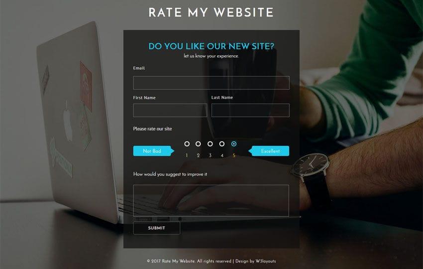 Rate My Website a Flat Responsive Widget Template