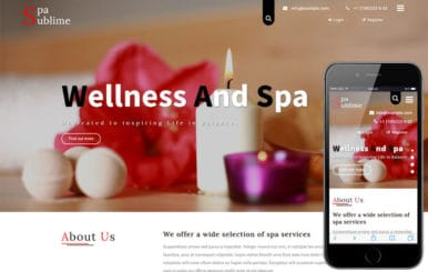 Spa Sublime a Beauty and Spa Category Bootstrap Responsive Template