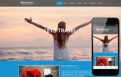 Wanderlust a Travel Category Bootstrap Responsive Web Template