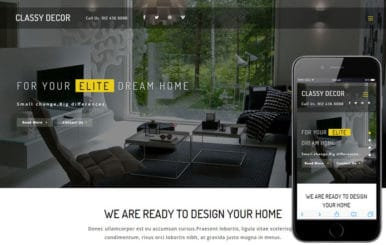 Classy Décor an Interior Category Bootstrap Responsive Web Template