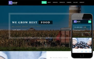 Crop Raising an Agriculture Category Bootstrap Responsive Web Template