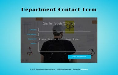 Department Contact Form a Responsive Widget Template