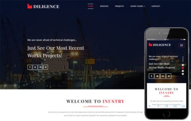 Diligence an Industrial Category Bootstrap Responsive Web Template