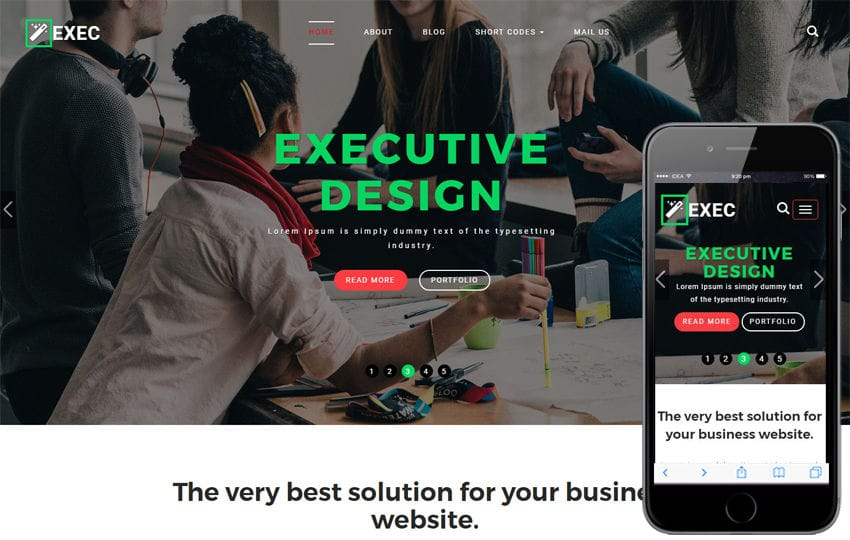 Exec a Corporate Category Bootstrap Responsive Web Template