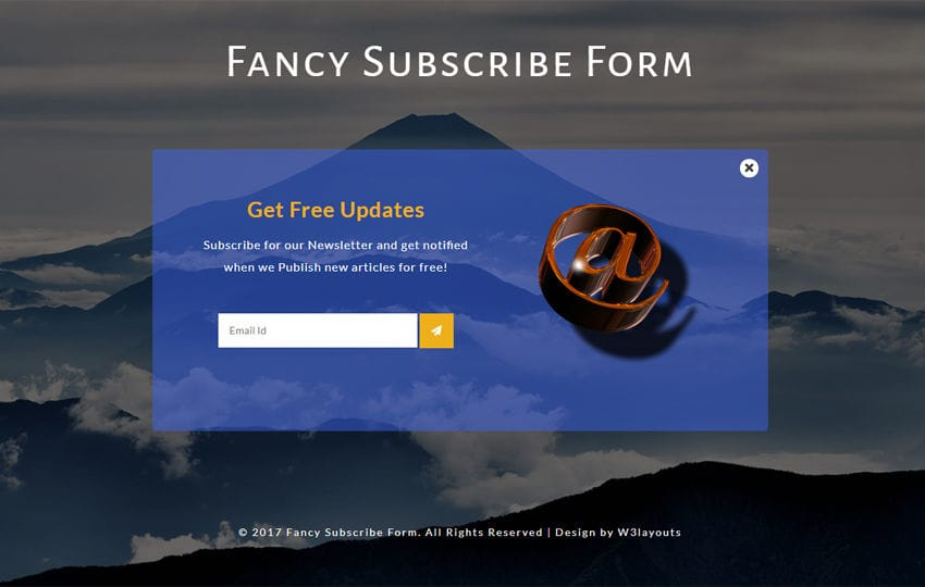 Fancy Subscribe Form Responsive Widget Template