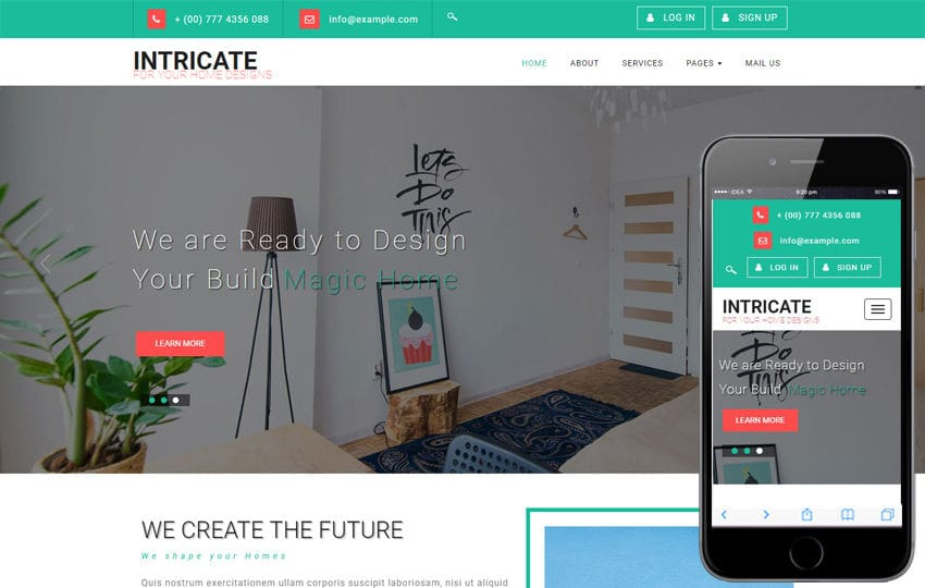Intricate an Interior Category Bootstrap Responsive Web Template