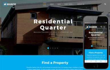 Manor a Real Estate Category Bootstrap Responsive Web Template