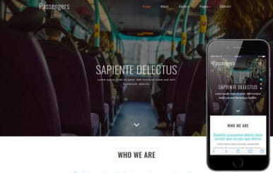 Passengers a Transportation Category Bootstrap Responsive Web Template