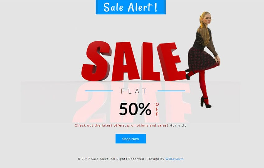 Sale Alert a Flat Responsive Widget Template