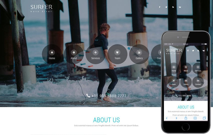 Surfer a Sports Category Bootstrap Responsive Web Template