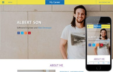 My Career a Personal Website Flat Bootstrap Responsive Web Template