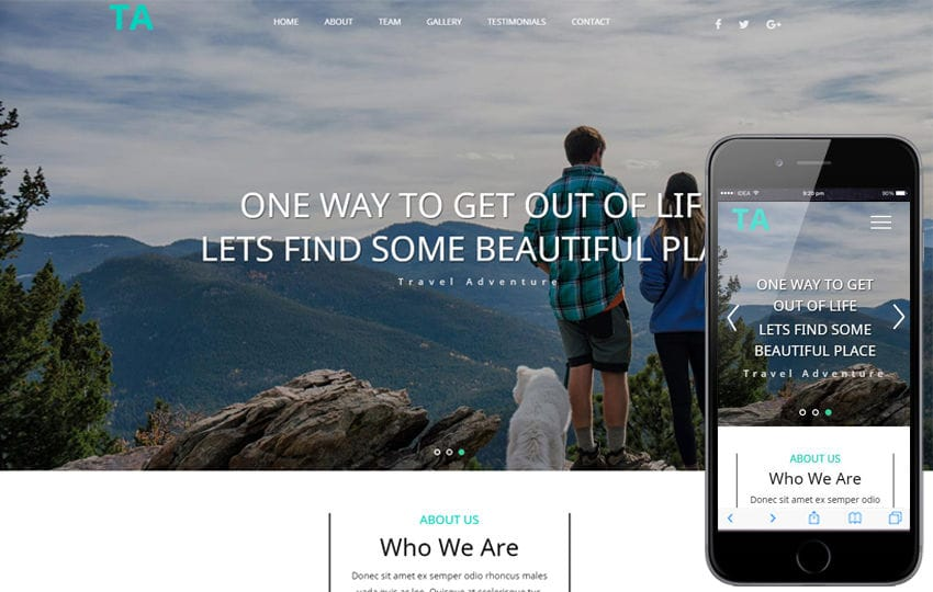 Travel Adventure a Travel Category Bootstrap Responsive Web Template Mobile website template Free