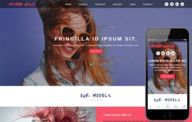 Fashion Gaze – Fashion Category Bootstrap Responsive Website Template