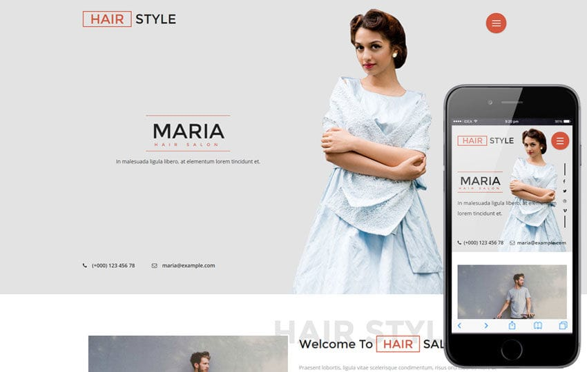 Hair Style a Beauty and Spa Category Flat Bootstrap Responsive Web Template Mobile website template Free