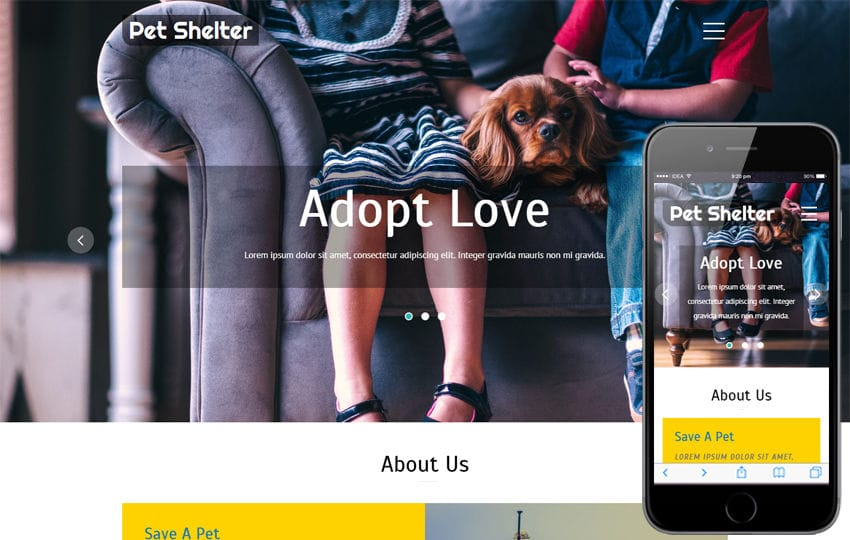 Pet Shelter an Animal Category Bootstrap Responsive Web Template Mobile website template Free
