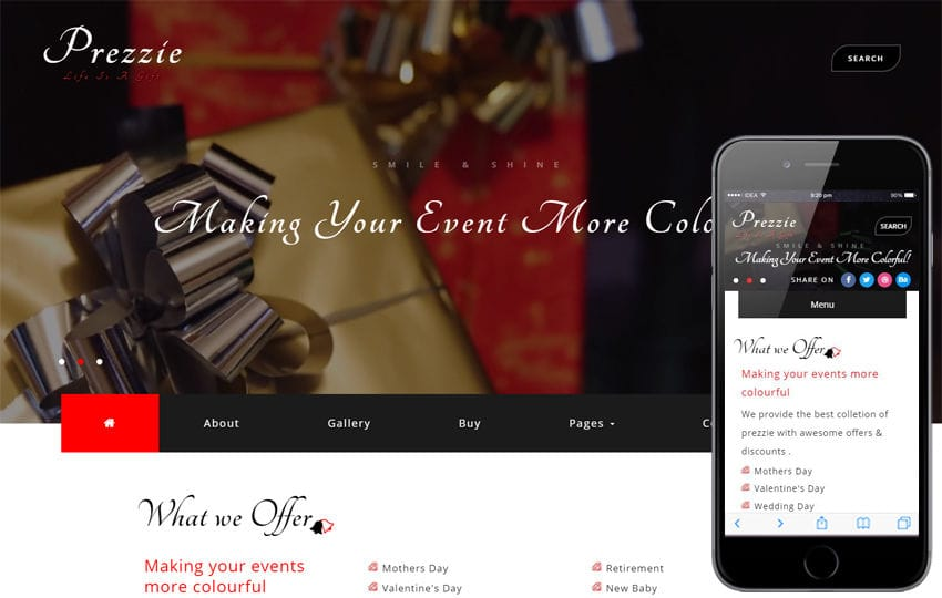 Prezzie an Online Shopping Category Bootstrap Responsive Web Template Mobile website template Free
