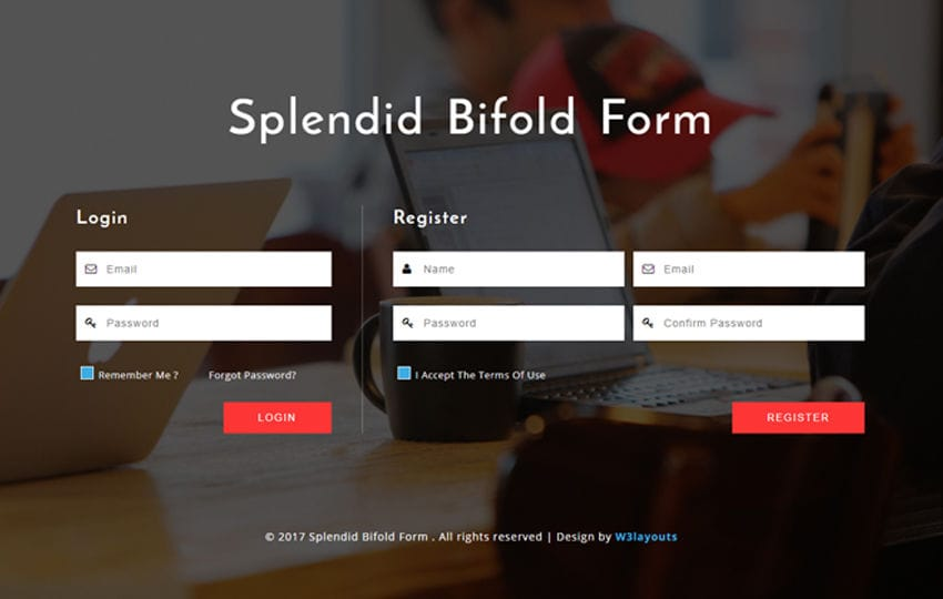 Splendid Bifold Form a Responsive Widget Template
