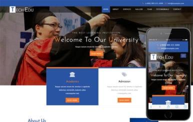Tech Edu an Education Category Bootstrap Responsive Web Template