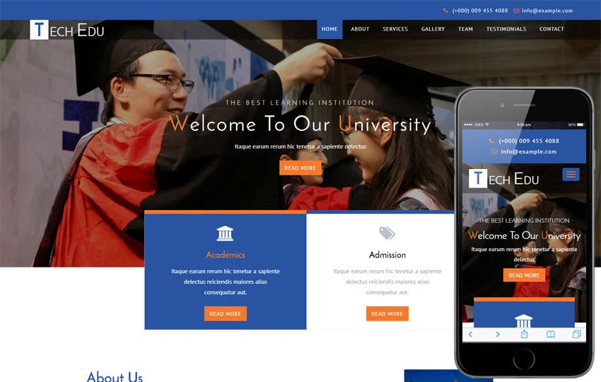 Tech Edu an Education Category Bootstrap Responsive Web Template