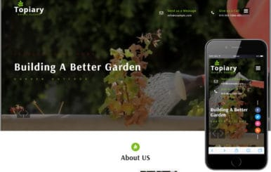 Topiary an Exterior Design Category Bootstrap Responsive Web Template