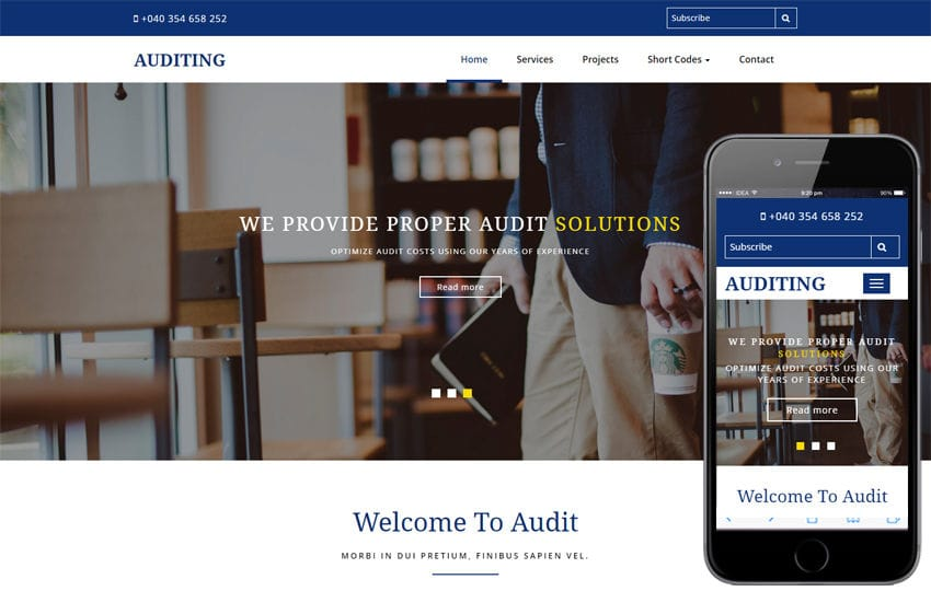 Auditing a Corporate Category Bootstrap Responsive Web Template
