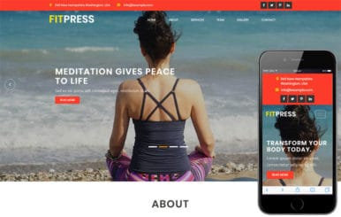 Fitpress a Sports Category Bootstrap Responsive Web Template