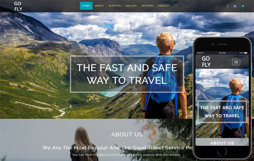Go Fly Traveller a Travel Category Bootstrap Responsive Web Template Mobile website template Free