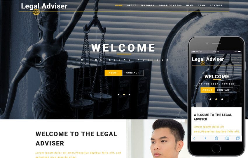 Legal Adviser a Society & People Flat Bootstrap Responsive Web Template Mobile website template Free
