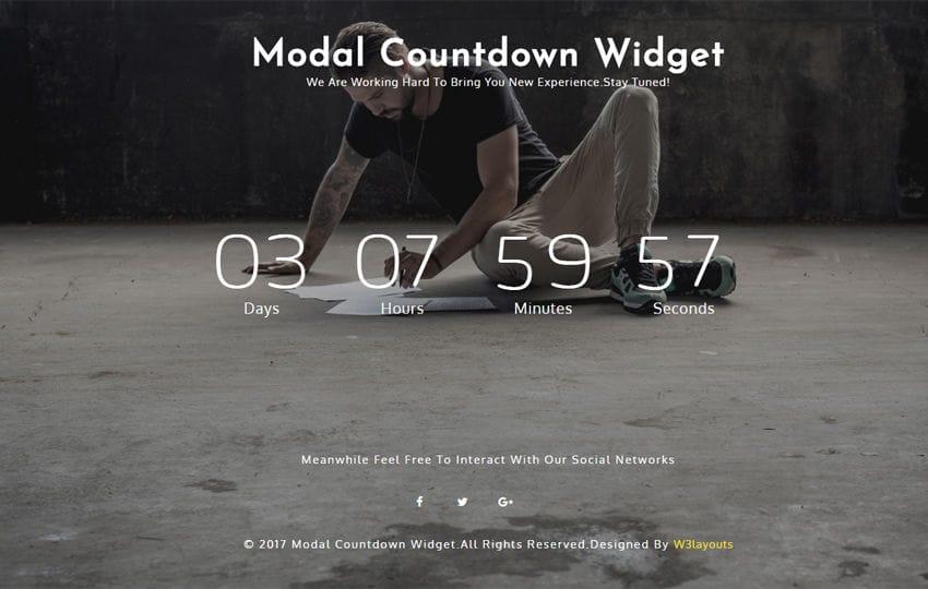 Modal Countdown a Responsive Widget Template