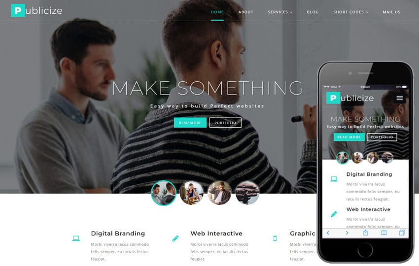 Publicize a Corporate Category Bootstrap Responsive Web Template