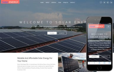 Solar Energy – Industrial Solar Website Template