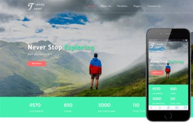 Trendy Travel a Travel Category Bootstrap Responsive Web Template