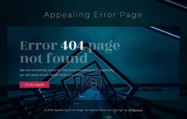 Appealing Error Page Responsive Widget Template