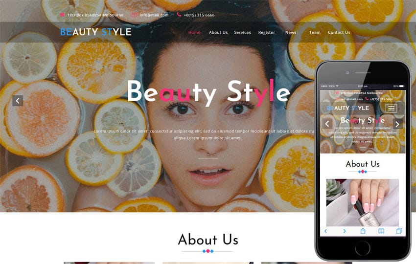 Beauty Style a Beauty Category Bootstrap Responsive Web Template Mobile website template Free